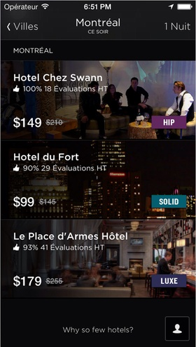 L'application à télécharger : Hotel Tonight